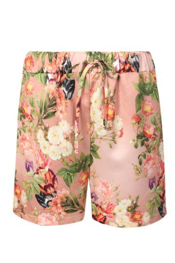 Satin Floral Mid Thigh Shorts