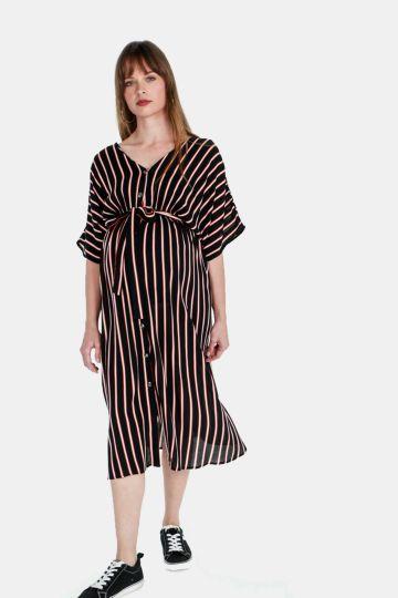 9cc3262251d Maternity Batwing Stripe Dress