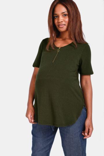 Maternity Ribbed T-shirt 63130f6c6