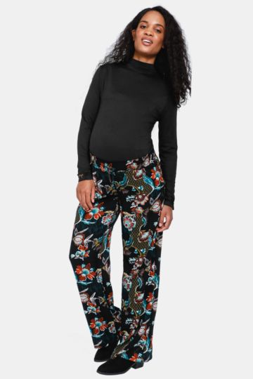 Maternity Floral Pants