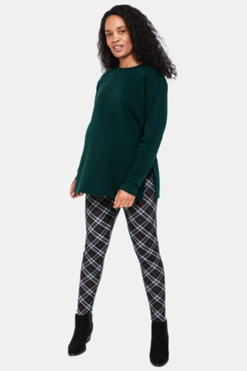 Maternity Check Print Leggings