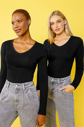 2 Pack Fitted Tops
