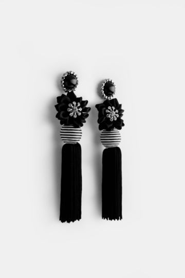 Drop Flower Tassel Earrings