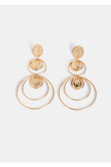 Drop Coin Earrings