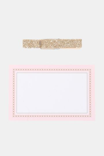 Gift Tags And Glitter Pegs