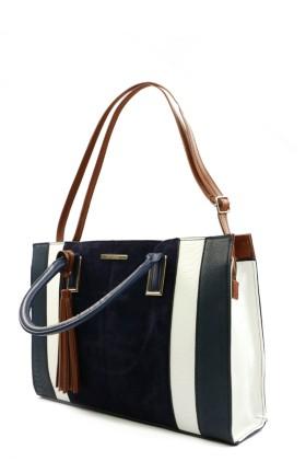 Colourblock Shopper Bag