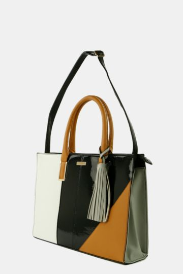 Colourblock Shopper Bag