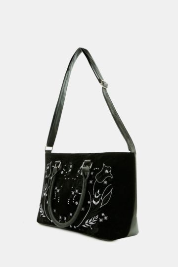 Embroided Bowler Bag