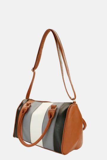 Stripe Bowler Bag