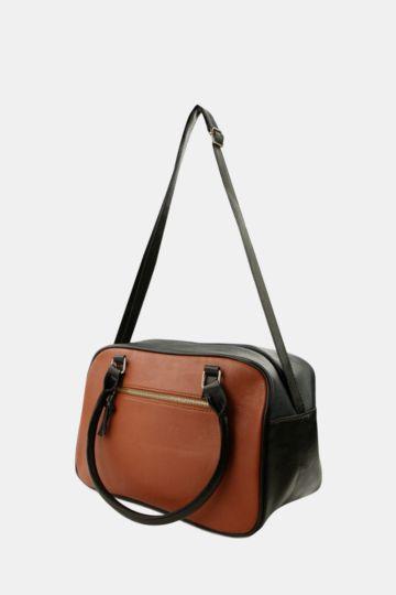 Colourblock Bowler Bag