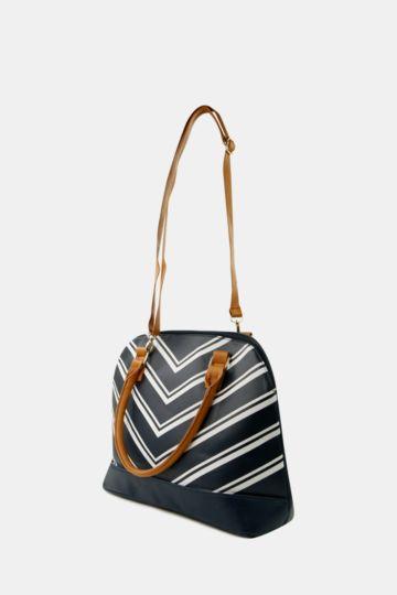 Chevron Stripe Bowler Bag