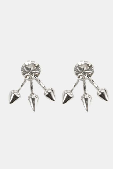 Spike Front And Back Earings