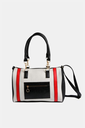 Colourblock Bowler Bag