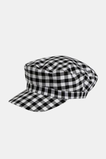 Check Baker Boy Hat