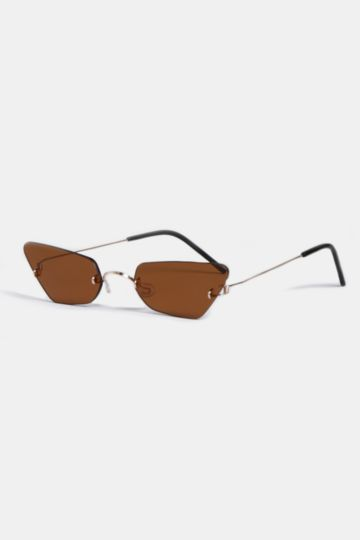 Frameless Cateye Sunglasses