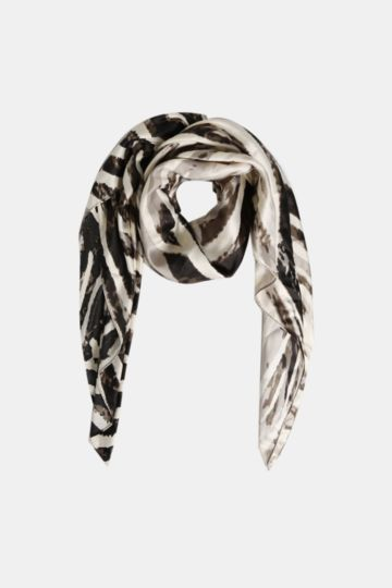 Square Scarf Satin Stripe Animal Print Pattern