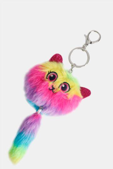 Fluffy Cat Keyring