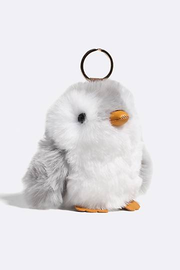 Fluffy Penguin Keyring