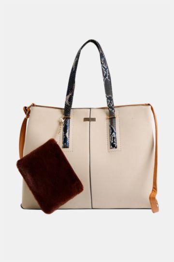 Colour Block Tote Bag