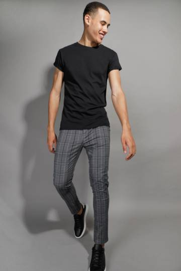 Check Skinny Fit Chino Pants