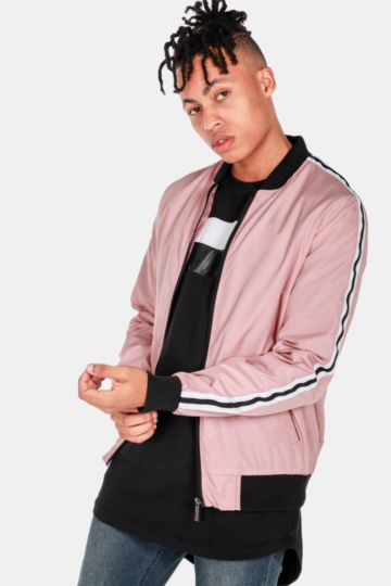 Side Tape Bomber Jacket
