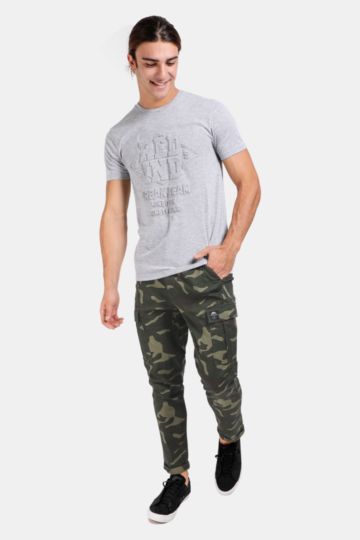 Printed Cargo Pants