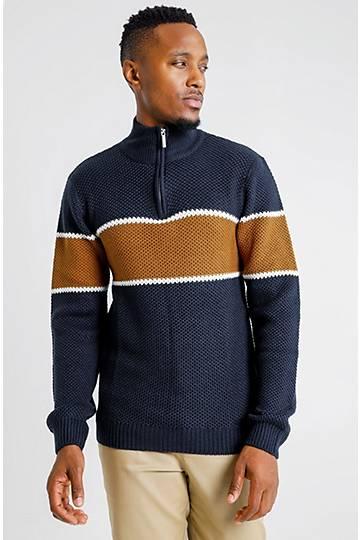 Colour Block Knit Pullover