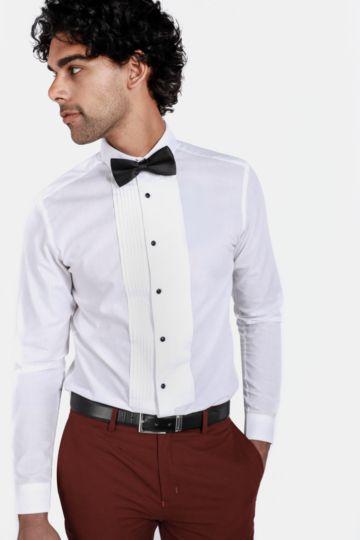 Textured Bib Shirt