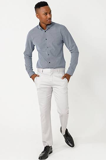 Sateen Stretch Chino Pants