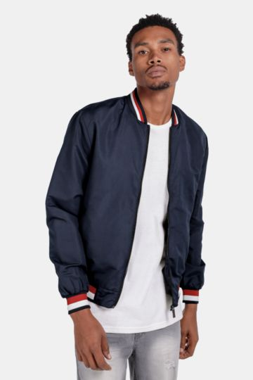 Tipped Bomber Jacket