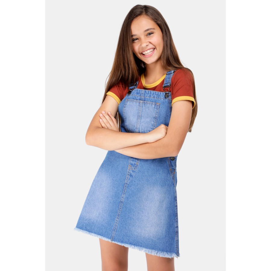100% authenticated moderate cost how to get Denim Pinafore Dress - Kids 7-14 New In - What's New