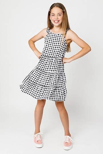 Check Babydoll Dress