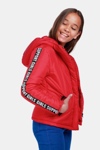 Side Tape Puffer Jacket