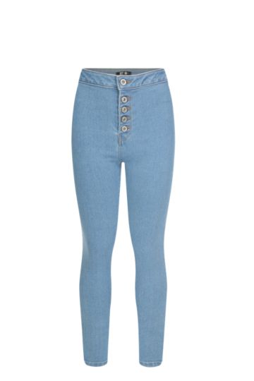 High Waisted Denim Jeans