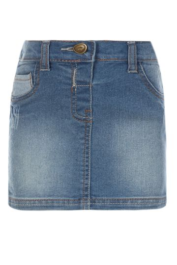 Denim Mini Skirt Ink