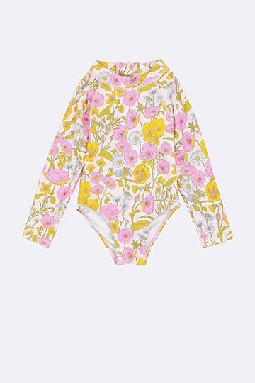 Floral Long Sleeve Swimsuit
