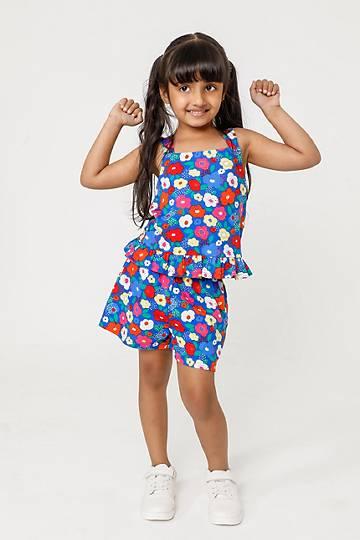 Printed Cami And Shorts Set