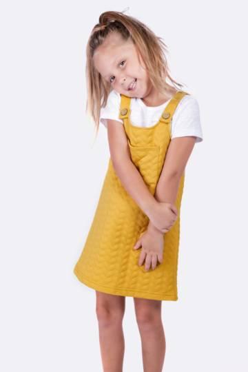 Embossed Pinafore Dress