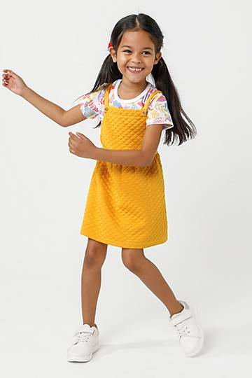 Quilted Pinafore Dress