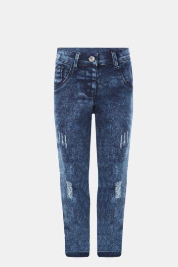 Abraised Skinny Denim Jeans