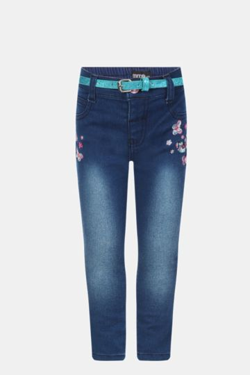 Embroided Skinny Jeans