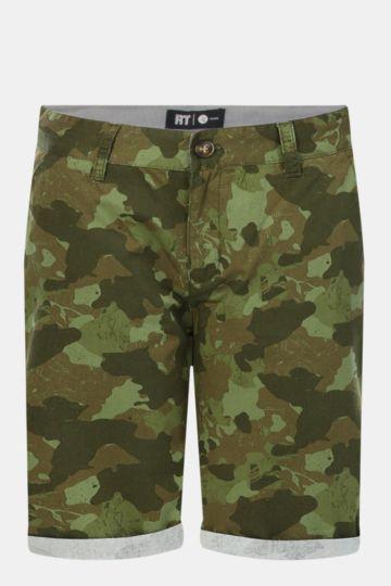 Camo Print Chino Shorts