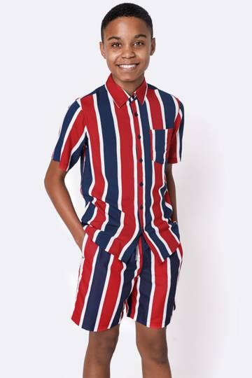 Stripe Swimshorts