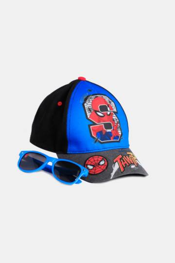 Spiderman Cap And Sunglasses Set