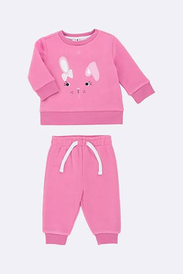 Bunny Print Pullover And Joggers Set