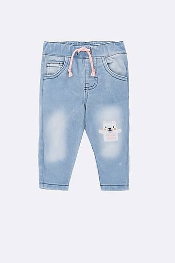 Bear Print Denim Jeans