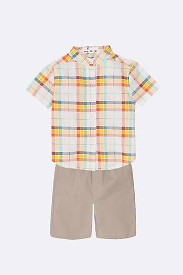 Shirt And Chino Shorts Set