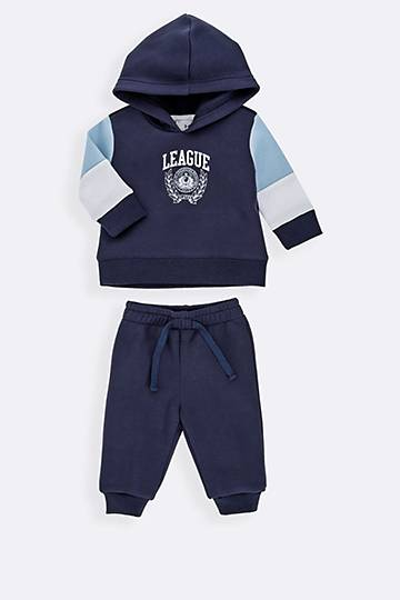Colour Block Hoodie And Joggers Set