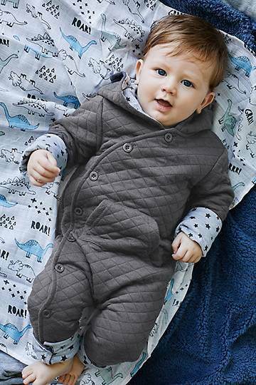 Quilted Hooded Romper
