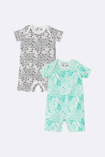 2 Pack Printed Rompers